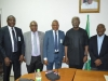 (L-R) Abbas Umar Masanawa, ED, Finance & Strategy, NSPM, Secretary to the Commission, Dr. Elvis Oglafa, MD/CEO NSPM, Joseph Ugbo, ICPC Chairman, Ekpo Nta and Board Member, Hon. Bako Abdullahi