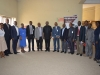 ICPC Chairman, Ekpo Nta, and MD/CEO NSPM, Joseph Ugbo in a group photograph with management staff of ICPC and NSPM