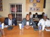 (L-R) NFF National Integrity Officer, Mr. Chris Emeruwa, NFF Assistant Director, Legal, Barr. Okey Obi, and NFF General Secretary, Dr. Mohammed Sanusi