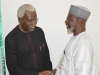 ICPC Chairman, Mr. Ekpo Nta discussing with NFF Gen. Secretary, Dr. Mohammed Sanusi