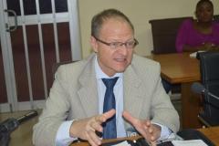 Mr. Martin Zbinden speaking during the visit