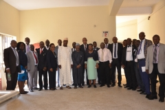 A group photo with Heads of Departments and Units of ICPC