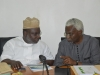 ICPC Chairman Mr. Ekpo Nta discussing with Hon. Akinloye Babajide, the Committee Chairman
