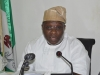 Hon. Akinloye Azeez Babajide, Chairman, House Committee on Anti-Corruption making his remarks during the visit