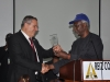 ICPC Chairman Mr Barr Ekpo Nta Presenting a Plaque to Dr Joseph Shevel, President of Galilee Institute