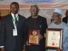 ICPC Chairman, Ekpo Nta, flanked by Dr. Godswill C. Onyekwere, ICAD Abuja, and Alhaji Bako Abdullahi, Board Member, ICPC