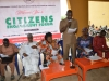 The Sole Administrator, Kwande Local Government, Mr. Daniel Orngu delivering his speech at the forum