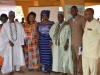 (L-R) Muetel Ipusu (representative of Ter Kwande, HRH Chief Donatus Ichula), Juliana Or (representative of the Special Adviser to the Governor on Local Government and Chieftaincy Affairs), Commissioner, Public Enlightenment Department and Spokesperson of the Commission, Mrs. Rasheedat Okoduwa mni, a traditional chief from Kwande LGA, Sole Administrator, Kwande LGA, Daniel Orngu, and DG Special Administration, Ayo Tordue