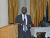 Mr. Jude Okoye of the Planning, Research and Review Department making a presentation during the retreat
