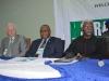 (L-R) Mr. Paul Beggan, DFID Representative, Secretary to the Commission, Dr. Elvis Oglafa and ICPC Chairman, Mr. Ekpo Nta at the retreat