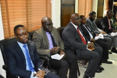 A cross-section of team members during the inauguration