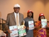 Representative of the ICPC Chairman, Mr. Abbia Udofia and Ms Lilian Ekeanyanwu, Head, Technical Unit on Governance and Anti-Corruption Reform (TUGAR), unveiling the CRA Report during the 2016 international Anti-Corruption Day celebration in Abuja