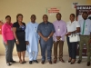 Dr. Elvis Oglafa in a group photograph with members of the delegation