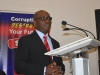 The guest speaker, Mr. Paul Erokoro (SAN) delivering his leacture at the event