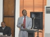 Mr. Kennedy Ebhotemen of the Planning, Research and Review Department of ICPC making a presentation on the report