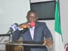 Mr. Emmanuel Akomaye, Consultant to the CRA Project, presenting the draft report of the CRA