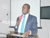 Mr. Akeem Lawal, fsi, Head,CorruptionMonitoring and Evaluation Department of ICPC making  his closing remarks at the event