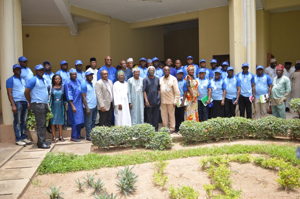 Members of the delegation in a group photograph with ICPC Chairman, Mr. Ekpo Nta