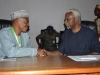 Asipita Umar, Head of NIPSS Consult chatting with ICPC Chairman, Mr. Ekpo Nta