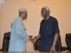 Asipita Umar, Head of NIPSS Consult, in a warm handshake with ICPC Chairman, Mr. Ekpo Nta