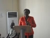 Mrs Azuka Ogugua, a senior officer of the Education Dept of ICPC delivering her lecture at the training