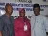 5. (L-R) Segun Olusola, Rasheedat Okoduwa, mni and Ahmed Suleman, Chairman ACTU State House