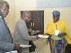 ACAN Provost Prof Sola Akinrinade presenting certificate to one of the participants