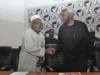 ICPC Chairman Ekpo Nta in a hand shake with a Board Member of the Commission,Hon. Bako Abdullahi