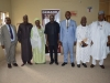 ICPC Chairman, Ekpo Nta, Secretary to the Commission, Elvis Oglafa, and Board Member, Alhaji Bako Abdullahi, in a group photograph with the Senate Committee Members