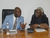Sen. Utazi Chukwuka discussing with ICPC Chairman, Ekpo Nta
