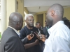 ICPC Chairman Mr. Ekpo Nta granting brief interview to press men