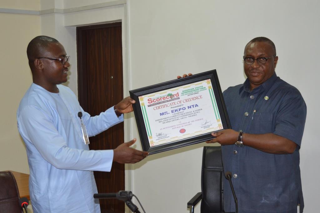 Scorecard Magazine Honours ICPC Chairman