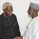 DSC_0071 ICPC Chairman, Mr. Ekpo Nta discussing with NFF Gen. Secretary, Dr. Mohammed Sanusi
