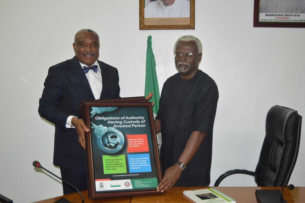 Administration of Criminal Justice: ICPC receives Public Enlightenment Poster Frames