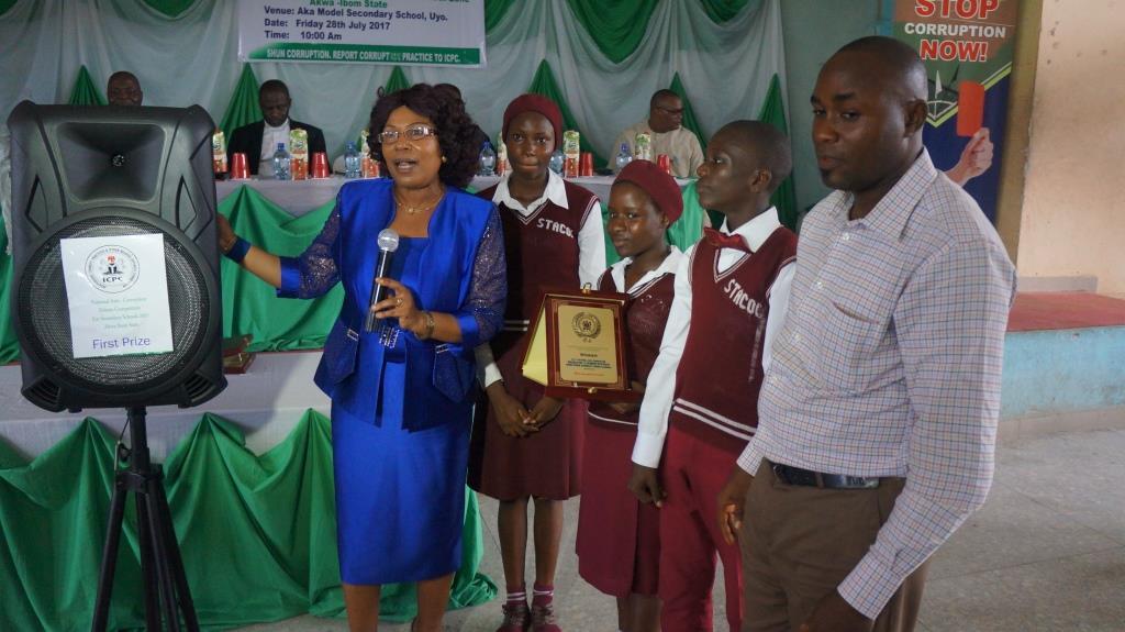 State College, Ikot Ekpene Wins ICPC Secondary Schools Anti-Corruption Debate in Akwa Ibom