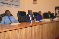 [L-R] Head, Education Department of ICPC, Mr. Baba Ashiru; Head, Administration Department of ICPC, Mr. Gad Bako; Dr. Fatima Tahir and Dr. Nathan Amadi, from the University of Maiduguri