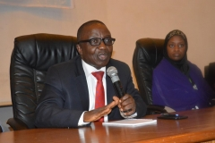Head, Administration Department, Mr. Gad Bako, who represented the ICPC Acting Chairman, Dr. Musa Usman Abubakar, speaking during the visit