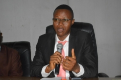 Head, Financial Investigation Unit of ICPC, Mr. Michael Agboro, speaking during the visit