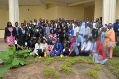 The visiting students in a group photograph with ICPC staff