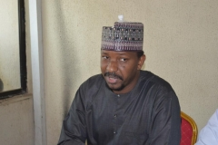 2nd Vice President of the Nigeria Football Federation [NFF] and Chairman, League Management Company of Nigeria [LMC], Malam Shehu Dikko, speaking during the inauguration
