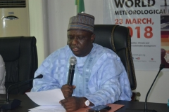 Director-General of the Nigerian Meteorological Agency [NIMET], Prof. Abubakar Sani Mashi, speaking during the inauguration