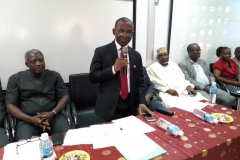 Auditor-General of the Federation, Mr. Anthony Mkpe Ayine, speaking during the inauguration