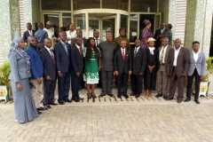 The new exco members in group photograph with the Auditor-General of the Federation and ICPC staff