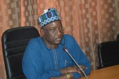 Acting Chairman of RMAFC Alhaji Shettima Umaru Abba Gana speaking during the inauguration