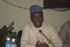 The new ACTU chairman Alhaji Mustapha Mohammed giving his acceptance speech