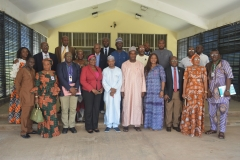 Group photograph of D-G NIMC and management team with Ag. Chairman of ICPC and management team