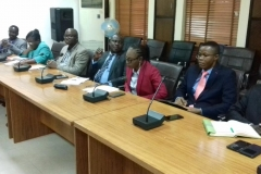 A cross-section of ICPC management staff during the courtesy visit
