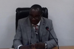 ICPC Acting Chairman, Dr. Musa Usman Abubakar, speaking during the courtesy visit
