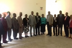 ICPC Acting Chairman, Dr. Musa Usman Abubakar in a group photograph with CITN officials and ICPC management staff