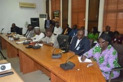 A cross-section of officials of the Nigerian Shippers Council [NSC] during the courtesy visit
